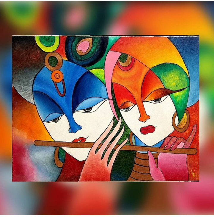 Radha Krishan abstract painting